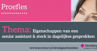 Proefles - Senior assistant op strategisch niveau