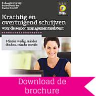 Download brochure Krachtig en overtuigend schrijven