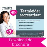 Download brochure Teamleider Secretariaat