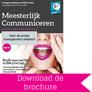 Download brochure Meesterlijk Communiceren