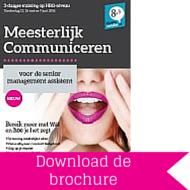 Download brochure Meesterlijk Communiceren