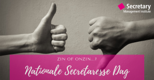 Nationale Secretaresse Dag: zin of onzin